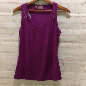 Athletic violet lace detail tank XS reflective
